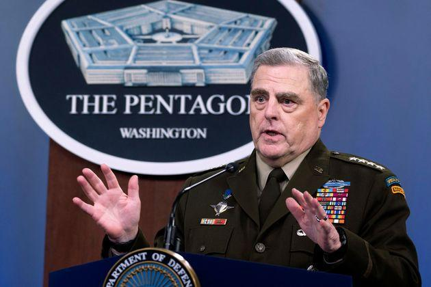 FILE - In this July 21, 2021 file photo, Joint Chiefs Chairman Gen. Mark Milley speaks at a press briefing at the Pentagon in Washington. (AP Photo/Kevin Wolf) (Photo: via Associated Press)