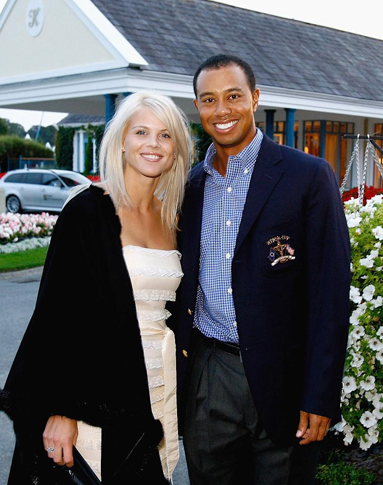 "<p class=""MsoNormal"" style=""""><span style="" ""><b>#5 Tiger Woods and Elin Nordegren</b><br> You've probably heard that golf legend Tiger Woods and wife Elin Nordegren's marriage ended in divorce after Woods had a few indiscretions, which ended up getting, well, more than a little media coverage. The couple officially divorced in the summer of 2010 after almost<b> </b>six years of marriage and two children together. Though it was initially reported that Nordegren would receive nearly three-quarters of a billion dollars, putting the settlement at the top of this list, in the end the Swedish-born beauty ""only"" received a little over $100 million. </span></p>"