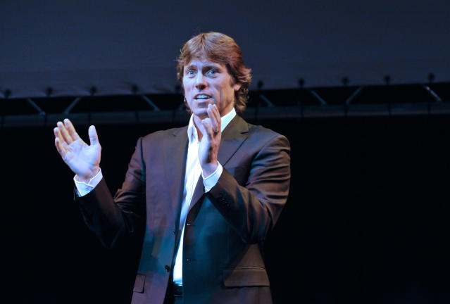 Stand-up comedian John Bishop performing at the Underbelly / McEwan Hall as part of the Edinburgh Festival Fringe.. (Photo by robbie jack/Corbis via Getty Images)