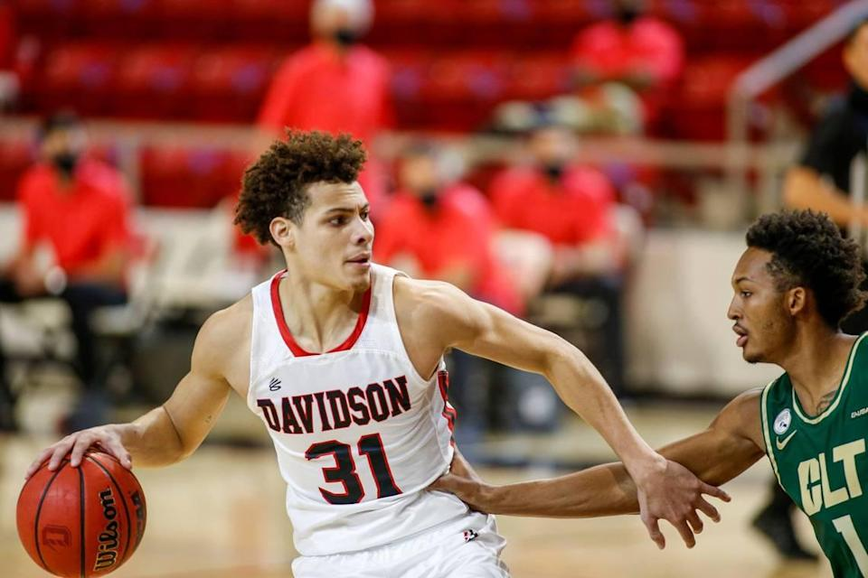 Kellan Grady averaged 17.1 points, 4.6 rebounds and 2.4 assists this past season at Davidson.