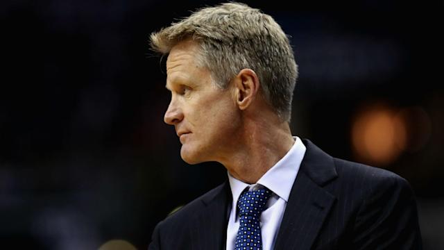 Kerr has not coached the Warriors since the first round of the postseason due to lingering back pain.