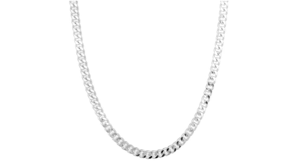 Revere Sterling Silver Solid Curb 20 Inch Chain
