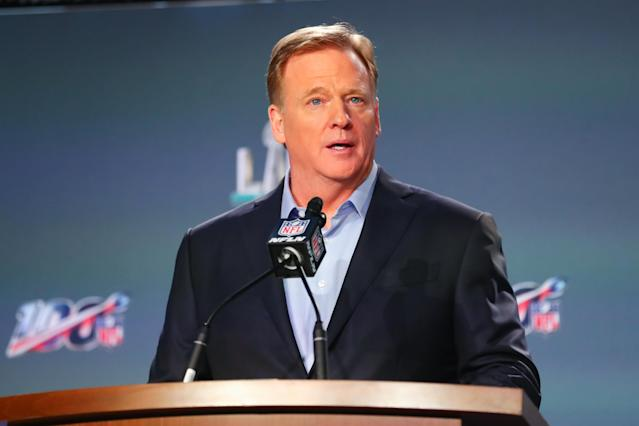 Commissioner Roger Goodell and the NFL owners relaxed the league's marijuana policy in the new CBA. (Rich Graessle/PPI/Icon Sportswire via Getty Images)