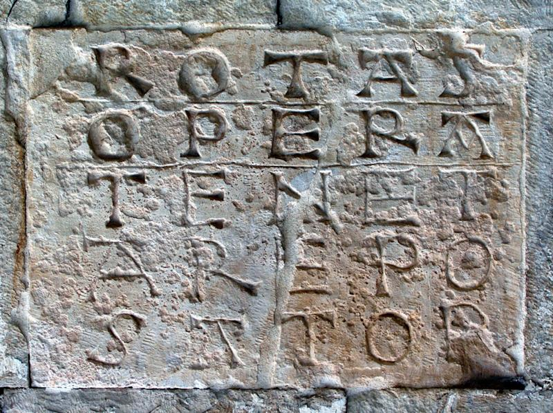 A Sator square, one of several located around Europe in former Roman territories - Alamy