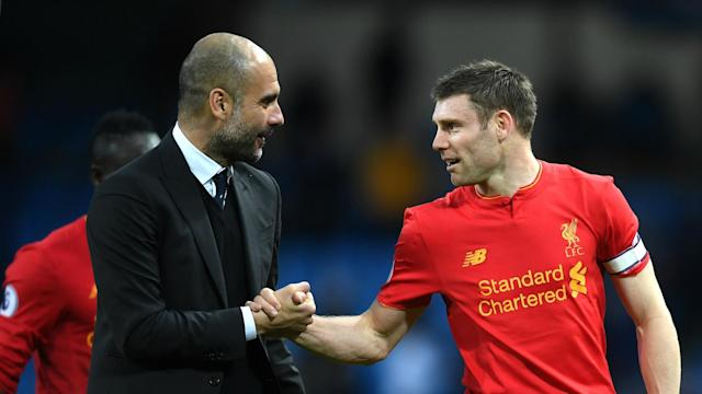 A new Premier League record was set by James Milner during Liverpool's 1-1 draw at Manchester City on Sunday.