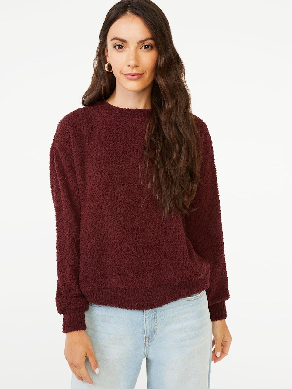 <p>Cozy like a blanket, the <span>Scoop Women's Plush Sweatshirt</span> ($24) is just as good for days spent at home as it is for brunch with friends.</p>