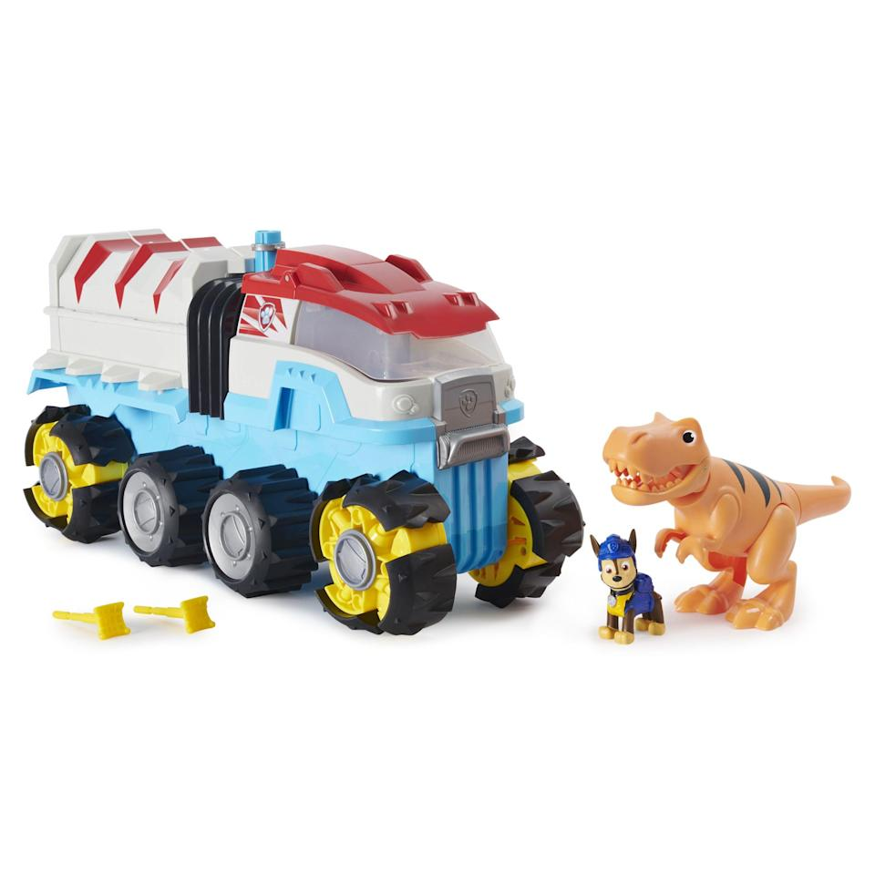 """<p><strong>PAW Patrol</strong></p><p>walmart.com</p><p><strong>$59.00</strong></p><p><a href=""""https://go.redirectingat.com?id=74968X1596630&url=https%3A%2F%2Fwww.walmart.com%2Fip%2F810969825&sref=https%3A%2F%2Fwww.bestproducts.com%2Fparenting%2Fg34074265%2Fwalmart-top-toys-of-2020%2F"""" rel=""""nofollow noopener"""" target=""""_blank"""" data-ylk=""""slk:Shop Now"""" class=""""link rapid-noclick-resp"""">Shop Now</a></p><p>These rescue pups just got a vehicle upgrade that your kiddo will be thrilled to unwrap on Christmas morning. The first motorized vehicle from the <em>PAW Patrol</em> series, all six of the pups can fit inside — and with just a push of the button, the truck will zoom away. </p>"""