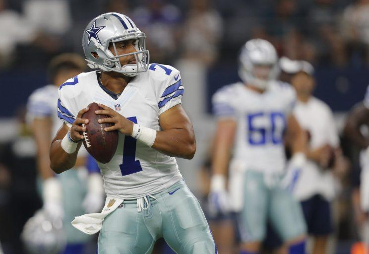 Dak Prescott was picked in the fourth round of the 2016 draft. (AP)