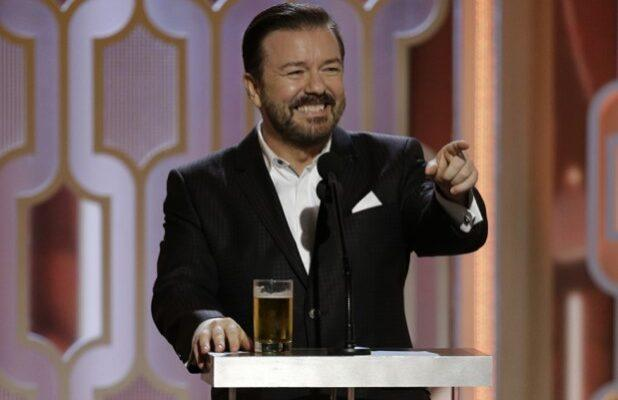 Ricky Gervais Makes a Splash in First Golden Globes Promo (Video)