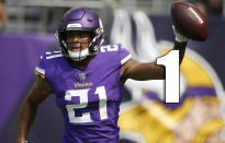 <p>The offensive line, which is the Vikings' only glaring weakness, wasn't great in Week 1, but it was good enough. (Mike Hughes) </p>