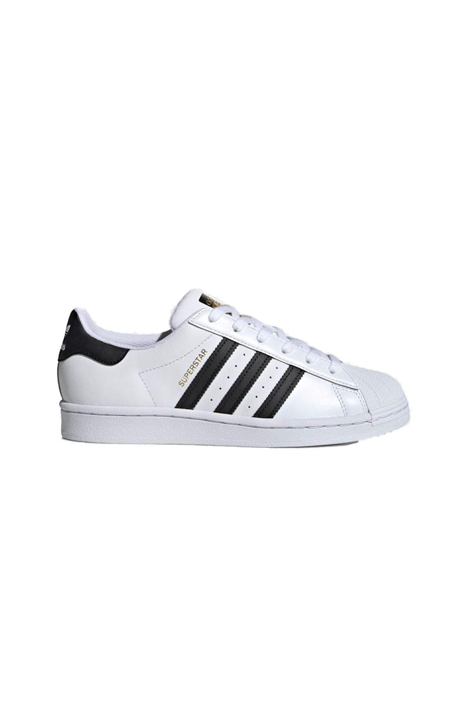 """<p><strong>Adidas</strong></p><p>adidas.com</p><p><strong>$85.00</strong></p><p><a href=""""https://go.redirectingat.com?id=74968X1596630&url=https%3A%2F%2Fwww.adidas.com%2Fus%2Fsuperstar-shoes%2FFV3284.html&sref=https%3A%2F%2Fwww.townandcountrymag.com%2Fstyle%2Ffashion-trends%2Fg22576837%2Ffall-outfits%2F"""" rel=""""nofollow noopener"""" target=""""_blank"""" data-ylk=""""slk:Shop Now"""" class=""""link rapid-noclick-resp"""">Shop Now</a></p>"""