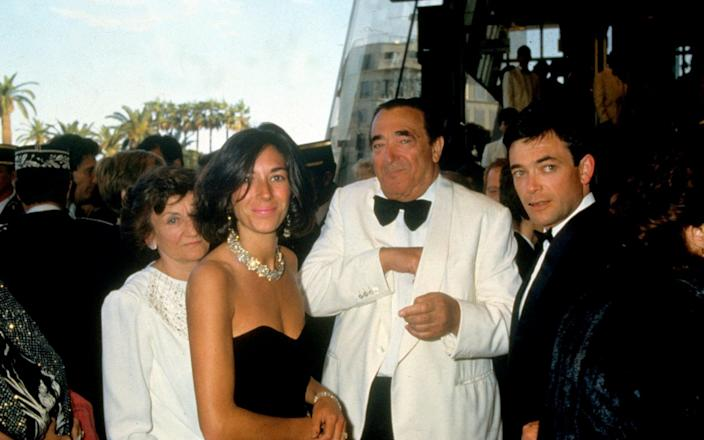 Robert Maxwell with his wife Elizabeth, his son, Ian and his daughter, Ghislaine in 1990 - www.bridgemanimages.com
