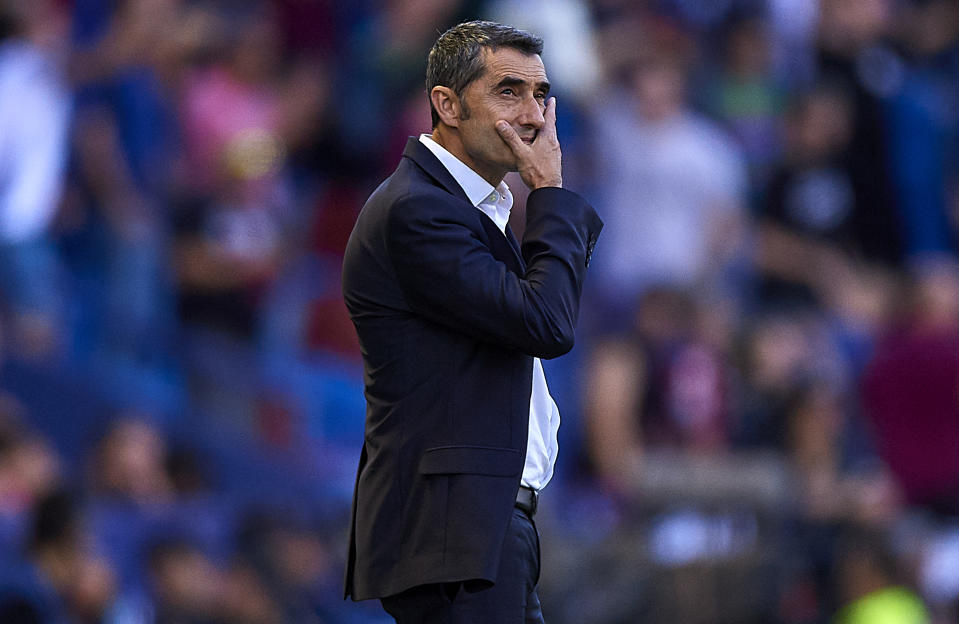 Ernesto Valverde has been fired as Barcelona manager, but the team's issues will persist. (Photo by Quality Sport Images/Getty Images)