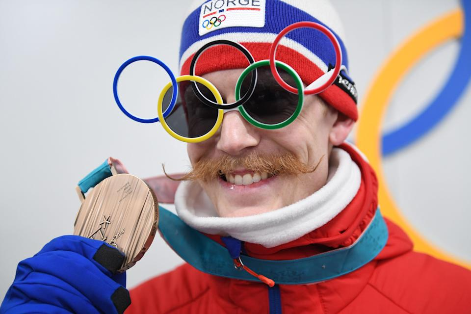 <p>Once last look at the kind of true Olympic graceness that would make Kaiser Wilhelm proud. (Getty) </p>