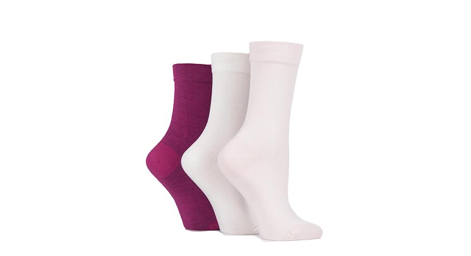 3 Pair Gentle Bamboo Ladies Socks