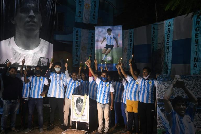 Diego Maradona visited Kolkata in 2017 to unveil a statue of himself