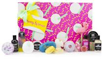<p>This brand new gift set includes pretty much everything you could want in a mega beauty kit, from bubble bars, to lip scrubs, to show gels and shampoo bars. The ultimate treat for any LUSH addict. </p>
