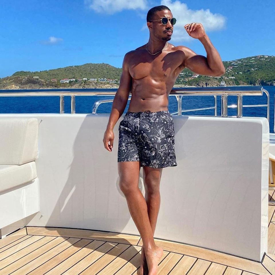 "<p>Yep, that's <a href=""https://people.com/movies/michael-b-jordan-people-sexiest-man-alive-2020/"" rel=""nofollow noopener"" target=""_blank"" data-ylk=""slk:our Sexiest Man Alive"" class=""link rapid-noclick-resp"">our Sexiest Man Alive</a>! The <em>Black Panther </em>star and his new girlfriend Lori Harvey (who snapped this <a href=""https://www.instagram.com/p/CKcD4oCBReV/"" rel=""nofollow noopener"" target=""_blank"" data-ylk=""slk:steamy shot"" class=""link rapid-noclick-resp"">steamy shot</a>) recently jetted off on a romantic getaway to the Caribbean island of St. Barts. ""Spf 1000 pls,"" Jordan wrote. </p>"