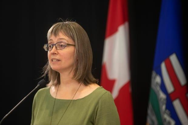 'Thank you for still talking to me,' Alberta's chief medical officer of health, Dr. Deena Hinshaw, said to Primary Care Network physicians during a Zoom call on Monday. (Jason Franson/The Canadian Press - image credit)