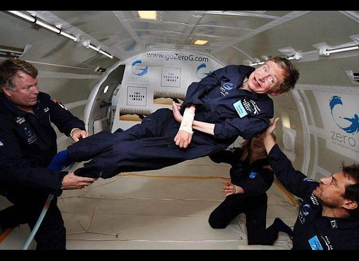 """""""I have noticed that even people who claim everything is predetermined and that we can do nothing to change it, look before they cross the road.""""  -- Hawking in his book """"Black Holes and Baby Universes and Other Essays"""""""