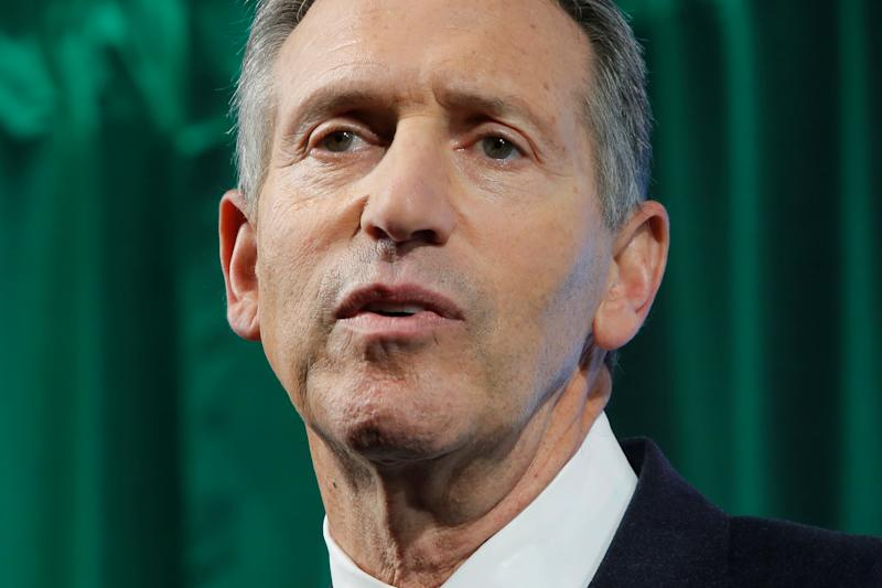 Former Starbucks Chairman and CEO Howard Schultz delivers remarks at the Starbucks 2016 Investor Day in Manhattan, New York, U.S. December 7, 2016. REUTERS/Andrew Kelly