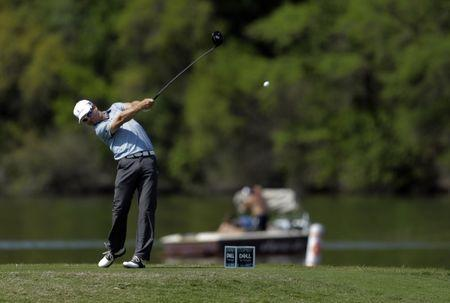 Mar 24, 2017; Austin, TX, USA; Zach Johnson of the United States plays against Brendan Steele of the United States during the third round of the World Golf Classic - Dell Match Play golf tournament at Austin Country Club. Erich Schlegel-USA TODAY Sports