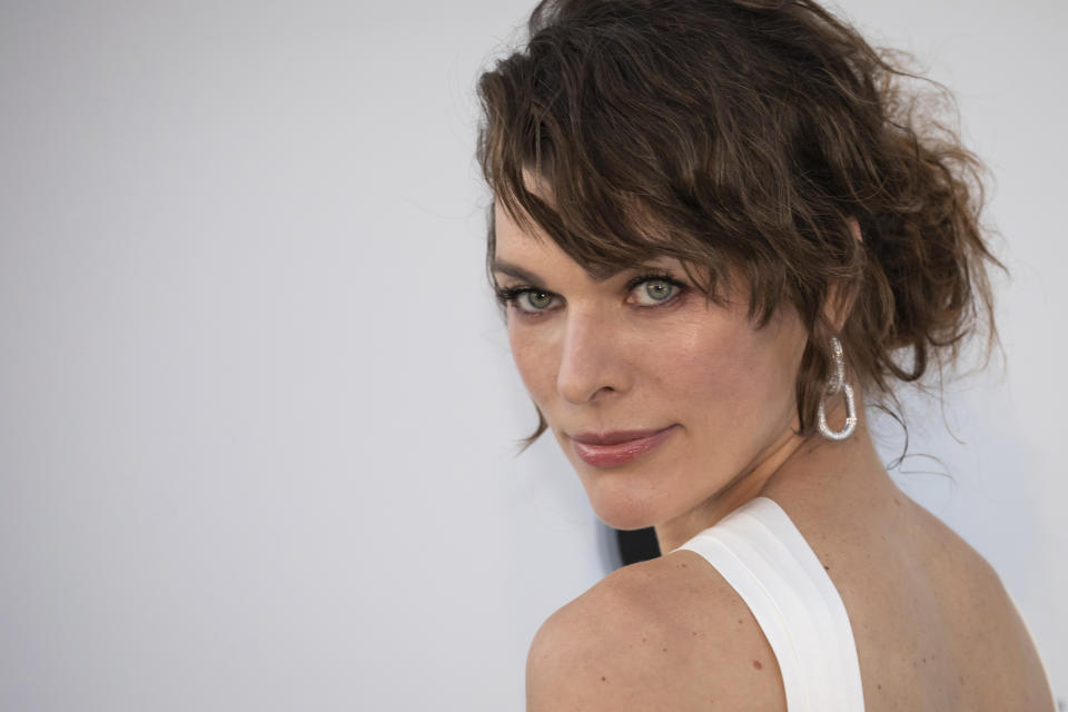 Milla Jovovich has given birth to a third daughter. (Photo by Vianney Le Caer/Invision/AP)