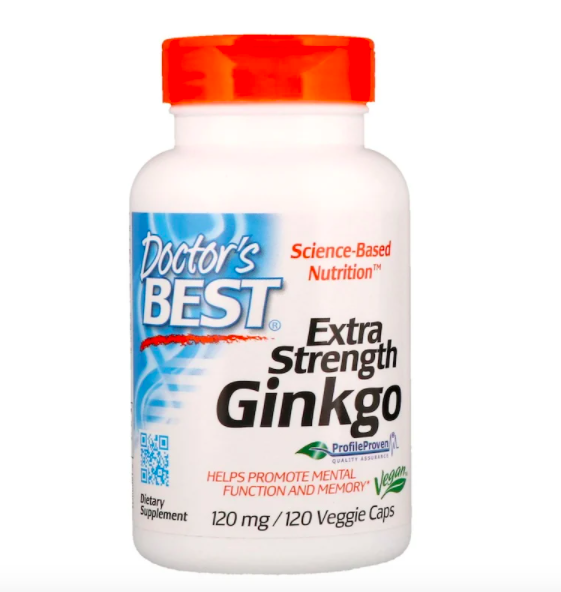Doctor's Best, Extra Strength Ginkgo, 120 mg, S$12.93. PHOTO: iHerb