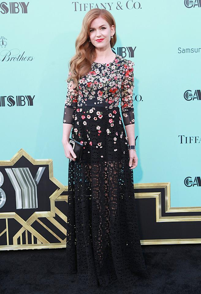 "NEW YORK, NY - MAY 01:  Actress Isla Fisher attends ""The Great Gatsby"" world premiere at Alice Tully Hall at Lincoln Center on May 1, 2013 in New York City.  (Photo by Taylor Hill/FilmMagic)"