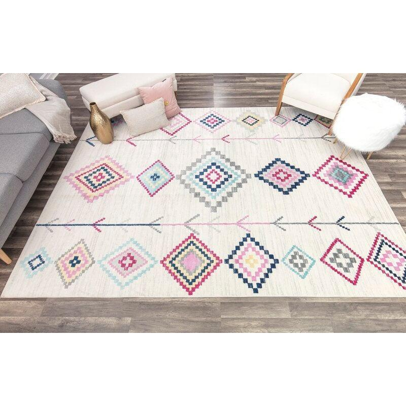 "<br><br><strong>CosmoLiving by Cosmopolitan</strong> Raspberry Pink Area Rug (5' x 7'), $, available at <a href=""https://go.skimresources.com/?id=30283X879131&url=https%3A%2F%2Fwww.wayfair.com%2Frugs%2Fpdp%2Fraspberry-pink-area-rug-cogl2765.html"" rel=""nofollow noopener"" target=""_blank"" data-ylk=""slk:Wayfair"" class=""link rapid-noclick-resp"">Wayfair</a>"