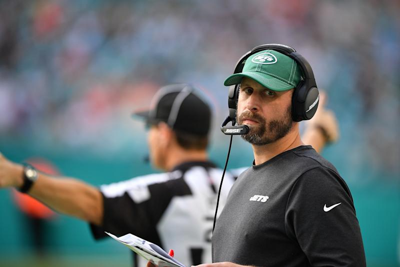 Jets coach Adam Gase is not having a good first season with the team. (Getty Images)