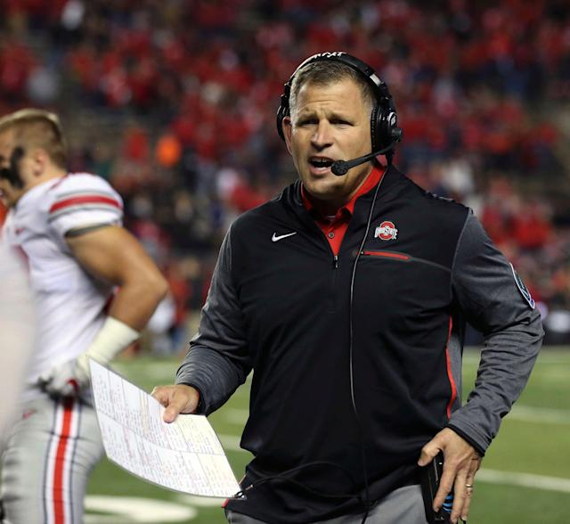 Former Ohio State associate head coach/defensive coordinator Greg Schiano stepped down as Patriots defensive coordinator. (AP)