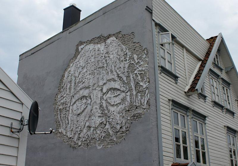 """Street Art festival <a href=""""http://www.nuartfestival.no/artists/artists-2013/hush--uk-"""" target=""""_blank"""">Nuart</a> opened this week in the City of Stavanger on the west coast of Norway. Artists from around the world celebrated street art on walls and buildings around the city in the festival's 8th year, including: Italy's <a href=""""http://www.zachas.com/"""" target=""""_blank"""">Ernest Zacharevic</a>, the UK's <a href=""""http://studio-hush.com/"""" target=""""_blank"""">Hush</a> and Belguim's <a href=""""http://roaweb.tumblr.com/"""" target=""""_blank"""">Roa</a>. Nuart's founder said: """"Norway is a social democracy and they've really accepted alternative voices... the country doesn't come with all the negative baggage attached to graffiti culture, like everywhere else."""" <strong>Nuart runs until October 20th.</strong>"""