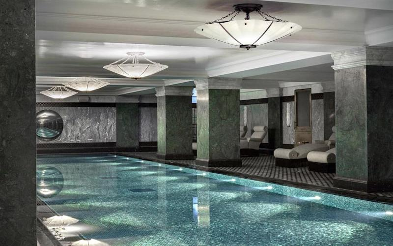 The Ned's pool and spa is set in the former vaults of the Midland Bank
