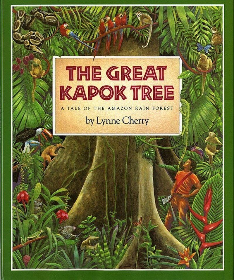 "Set in the Amazon rainforest, ""The Great Kapok Tree"" emphasizes the importance of trees to the health of the environment. <i>(Available <a href=""https://www.amazon.com/Great-Kapok-Tree-Amazon-Forest/dp/0152026142"" target=""_blank"" rel=""noopener noreferrer"">here</a>)</i>"