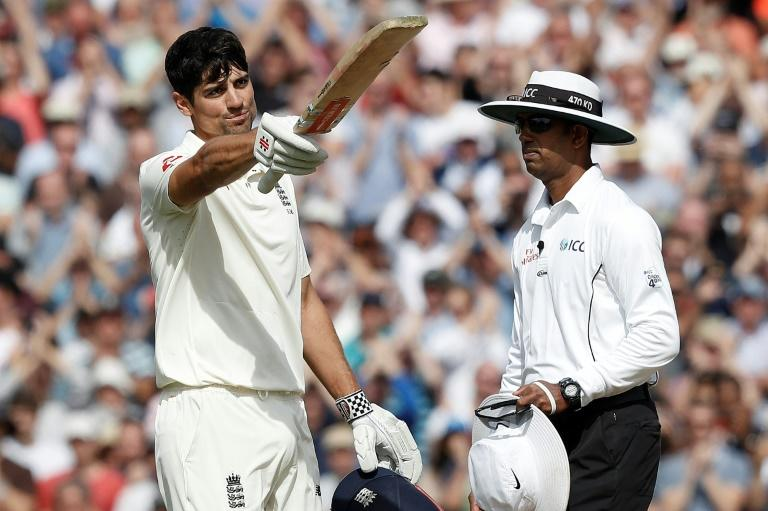 Alastair Cook scored a century in his final Test match for England