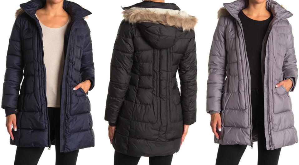 Larry Levine Faux Shearling Lined Puffer Jacket (Photo: Nordstrom Rack)