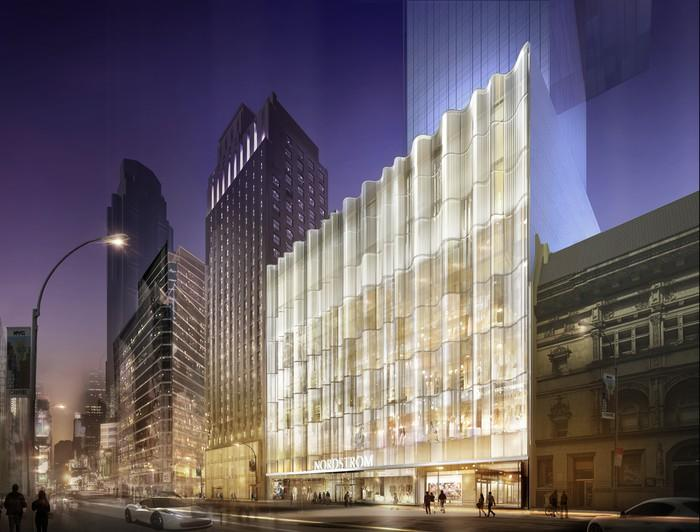 A virtual image of Nordstrom's new New York store.