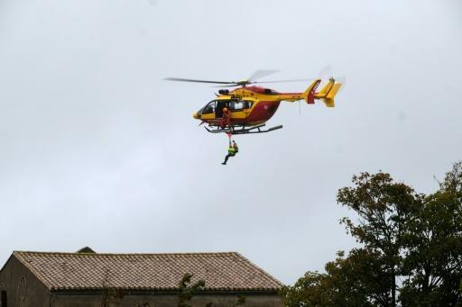 Authorities also rushed in helicopters to assist with rescue operations