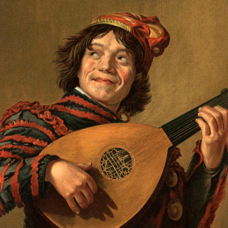 Jester with a Lute by Frans Hals (1623) - ClassicStock