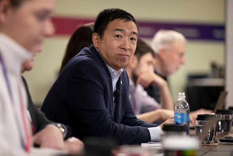 Andrew Yang Considers Who His Supporters Will Back if He's Not Viable in Iowa