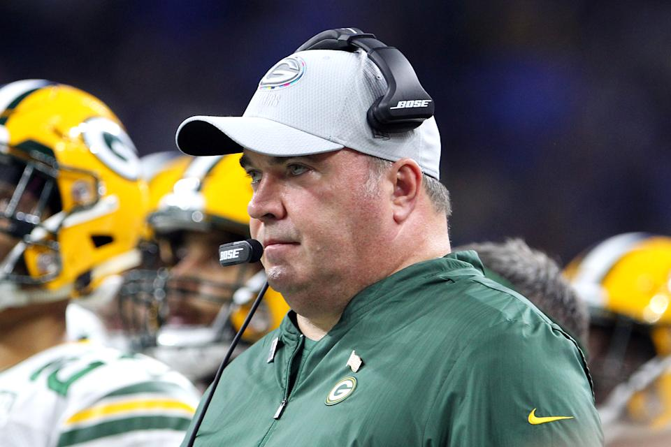 The Panthers reportedly interviewed Mike McCarthy on Sunday. (Amy Lemus/NurPhoto via Getty Images)