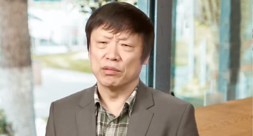 Pictured is Global Times editor-in-chief Hu Xijin.