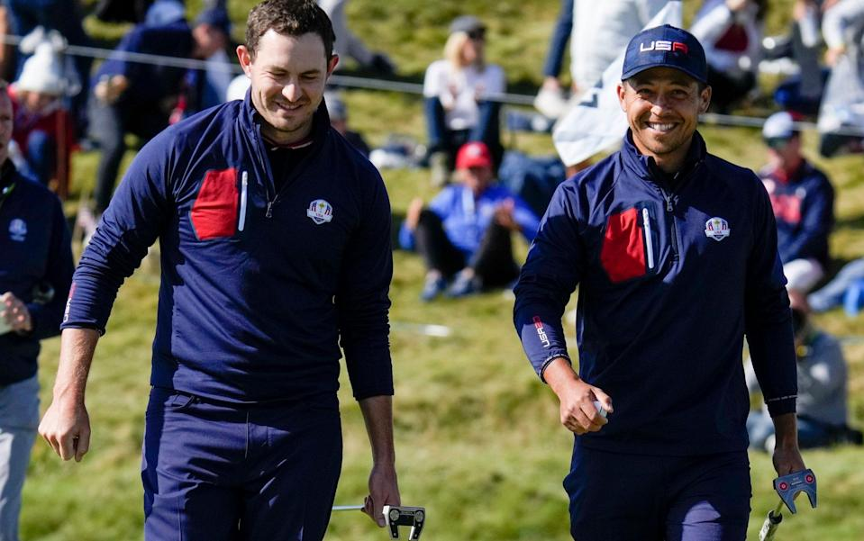 Patrick Cantlay and Xander Schauffele's chemistry has been apparent from the first morning - AP