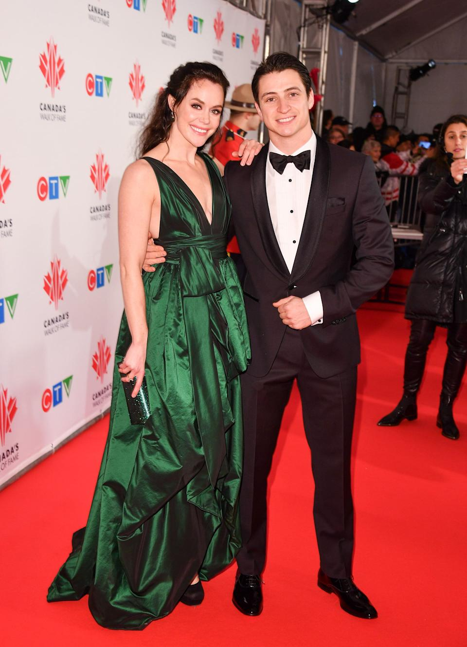 Virtue and ice dancing partner Scott Moir at their induction into Canada's Walk of Fame.  (Photo by George Pimentel/Getty Images)