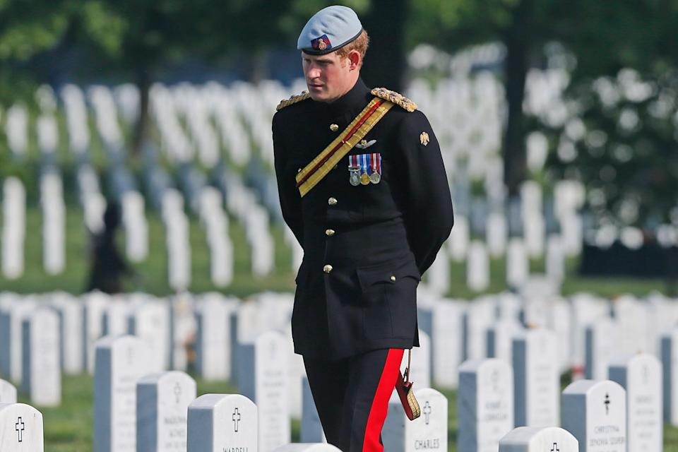 Prince Harry visited Arlington National Cemetery in 2013Getty Images