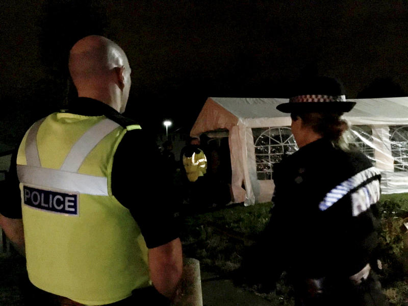 A large house party in the Quinton area was also peacefully broken up. (SWNS)