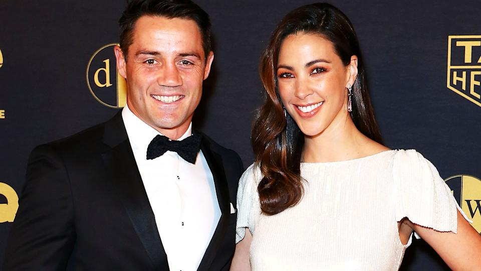 Cooper Cronk and Tara Rushton, pictured here at the 2019 Dolan Warren Awards.