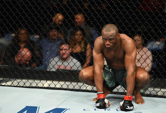 "Kamaru Usman (12-1) has won 11 straight fights, won Season 21 of ""The Ultimate Fighter"" and has become one of the best fighters in the world. (Getty Images)"