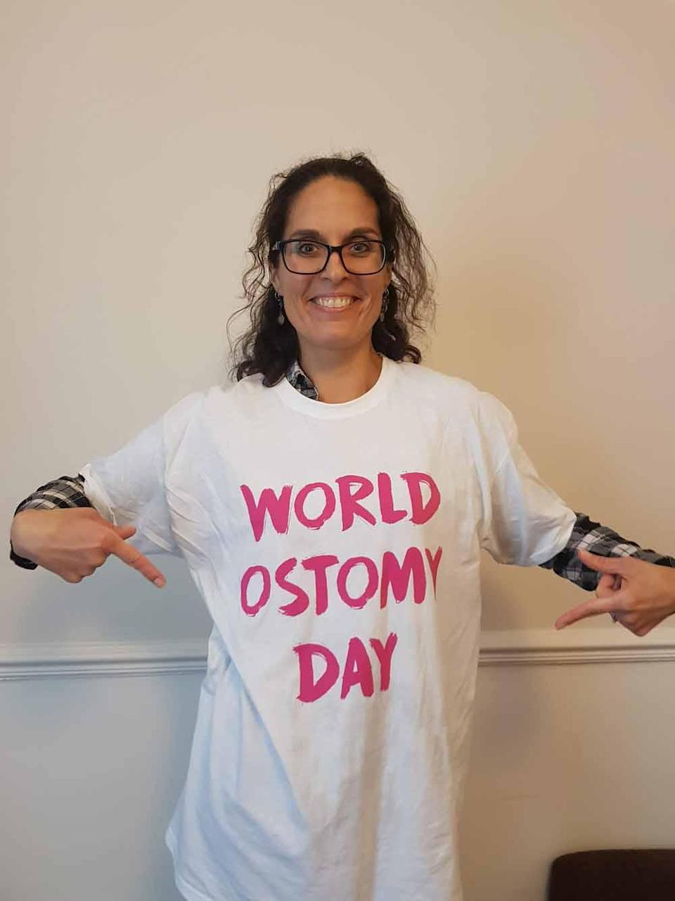 Laura is marking World Ostomy Day. PA REAL LIFE COLLECT